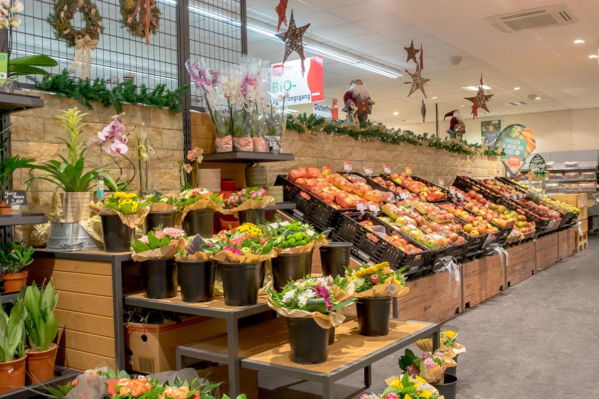 Obst und Gemüse im REWE Markt Rudel