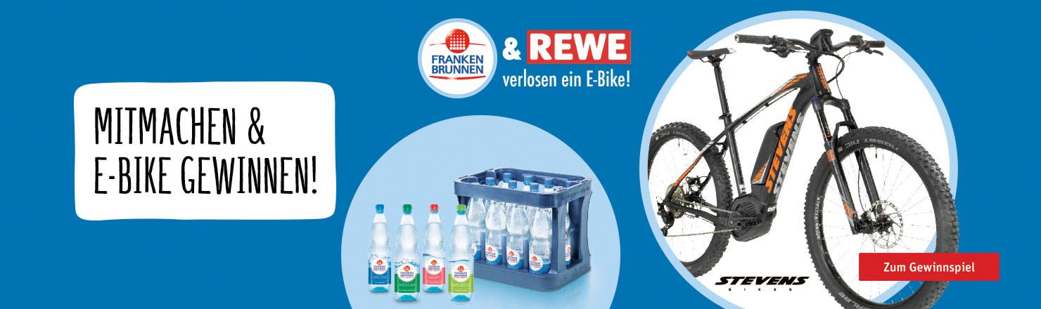 Mit Franken Brunnen ein E-Bike gewinnen!