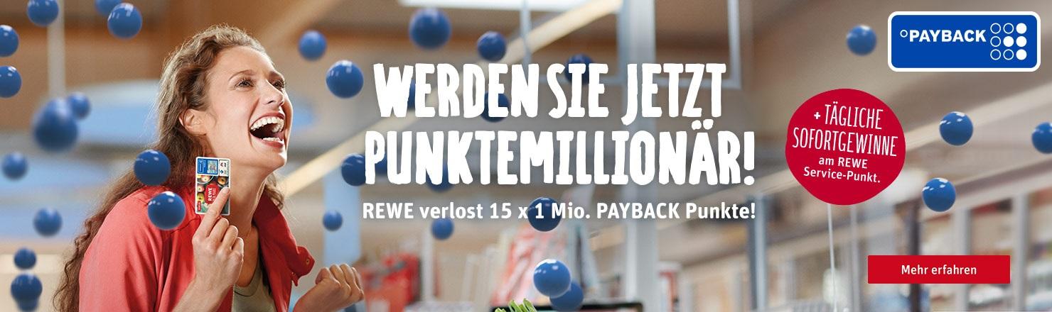 15 x 1 Mio. PAYBACK Punkte gewinnen!