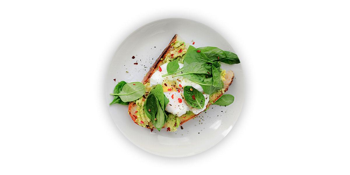 Brot mit Salat