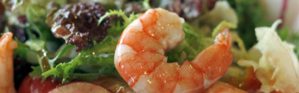 Salat mit Schrimps