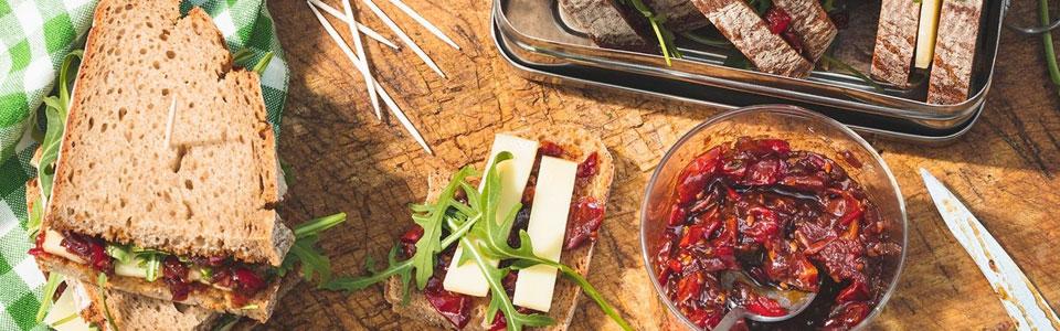 Tomatenchutney-Sandwich