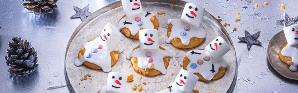 Schneemänner-Kekse
