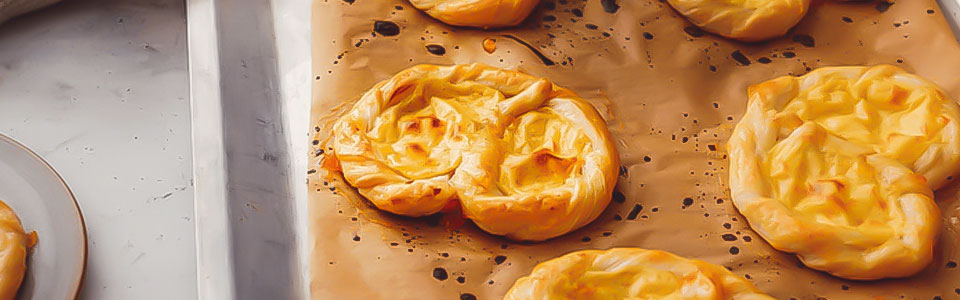 Puddingbrezel aus Blätterteig