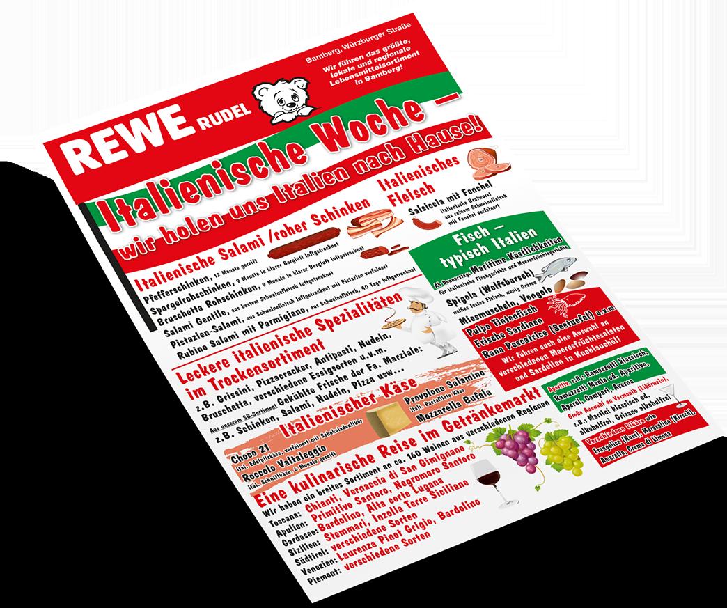 Italienische Woche im REWE Markt Rudel